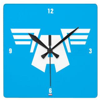 Captain America Winged Symbol Wall Clock