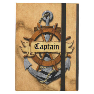 Captain Anchor And Wheel iPad Air Cases