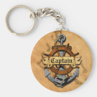 Captain Anchor And Wheel Keychains