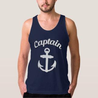 Captain Anchor Funny Men's Tank Top