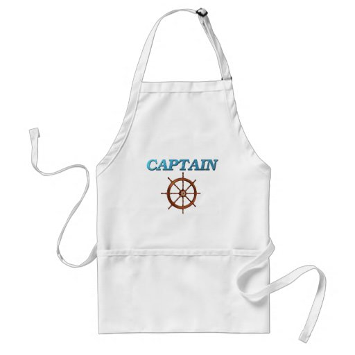 Captain and Captain's Wheel Aprons