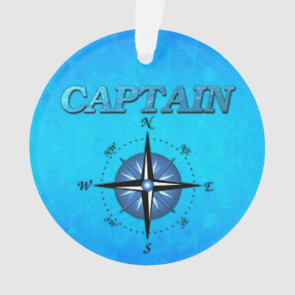 Captain And Compass Rose Ornament