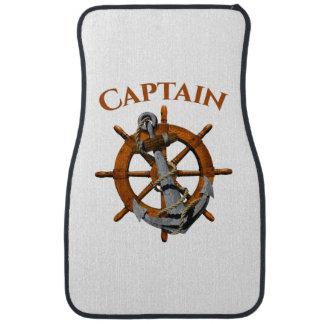 Captain And Nautical Anchor Car Mat