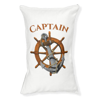 Captain And Nautical Anchor Pet Bed
