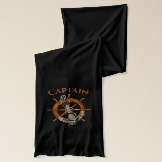 Captain And Nautical Anchor Scarf