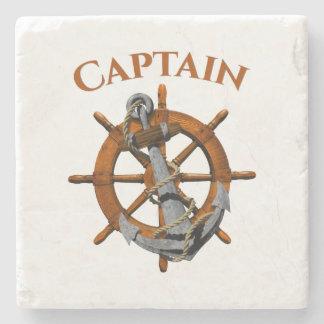 Captain And Nautical Anchor Stone Coaster