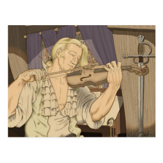 Captain Aubrey and His Fiddle Postcard