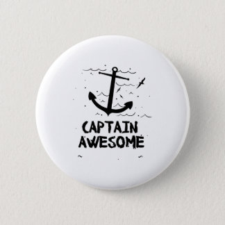Captain Awesome Boat Gifts 2 Inch Round Button