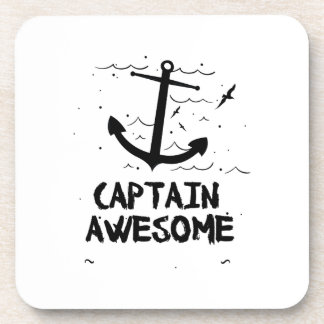 Captain Awesome Boat Gifts Coaster