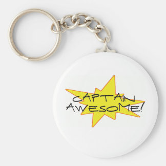 Captain Awesome Key Chain
