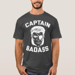 Captain Badass Charcoal Heather T-Shirt