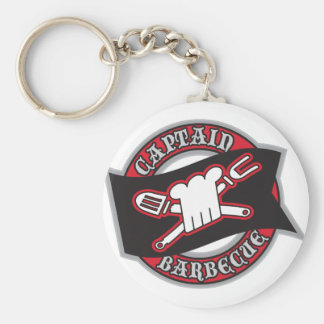 Captain Barbecue Basic Round Button Keychain
