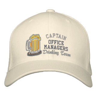 Captain Beer Drinking Team Custom Personalized Embroidered Baseball Caps