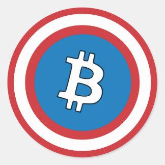 Captain Bitcoin Sticker
