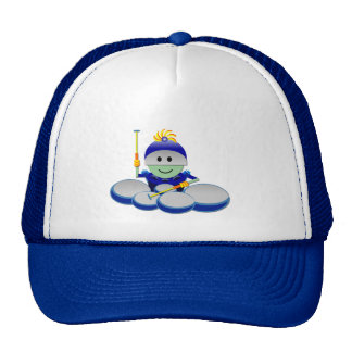 Captain Bok the Quads Space Guy From Outer Space Trucker Hats