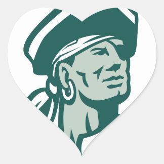 Captain Buccaneer Icon Heart Sticker