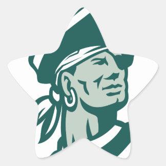 Captain Buccaneer Icon Star Sticker