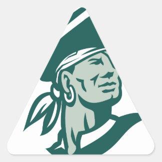 Captain Buccaneer Icon Triangle Sticker