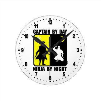 Captain by day, ninja by night clocks