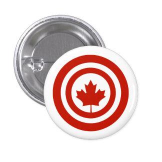 Captain Canada Superhero Shield Parody 1 Inch Round Button
