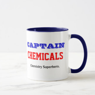 Captain Chemicals Chemistry Superhero Chemist Mug