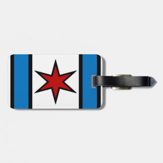 Captain Chicago Modern Shield Luggage Tag