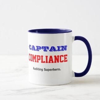 Captain Compliance Auditing Superhero Mug