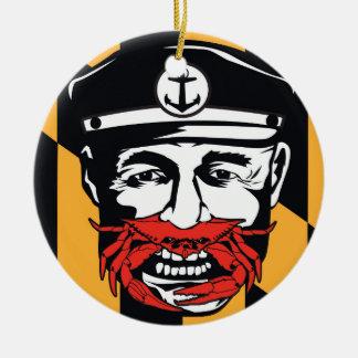 Captain Crab (ACrab!) Baltimore Maryland Ceramic Ornament