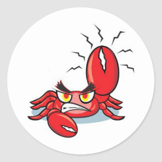 Captain Crabby Pants Round Sticker