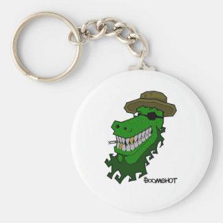 Captain Croc Basic Round Button Keychain