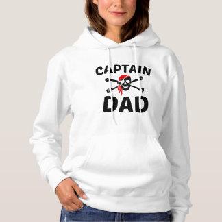 Captain Dad Skull And Crossbones Pirate Hoodie