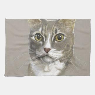 Captain domestic short hair cat hand towels