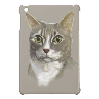 Captain domestic short hair cat iPad mini covers