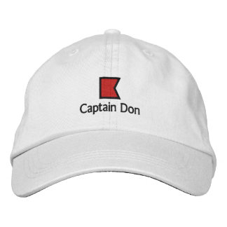 captain Don - B Embroidered Hats