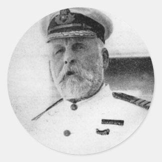 Captain EJ Smith of the Titanic Round Sticker