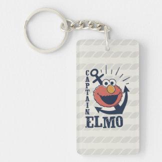 Captain Elmo Double-Sided Rectangular Acrylic Keychain