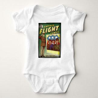 Captain Flight Vintage Golden Age Comic Book Baby Bodysuit