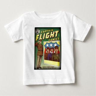 Captain Flight Vintage Golden Age Comic Book Baby T-Shirt