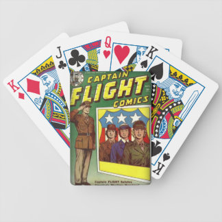 Captain Flight Vintage Golden Age Comic Book Bicycle Playing Cards