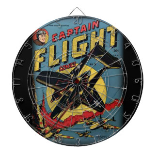Captain Flight Vintage Golden Age Comic Book Dartboard