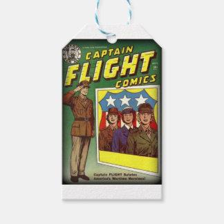 Captain Flight Vintage Golden Age Comic Book Gift Tags