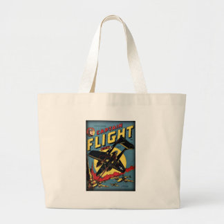 Captain Flight Vintage Golden Age Comic Book Large Tote Bag