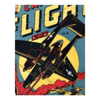 Captain Flight Vintage Golden Age Comic Book Letterhead