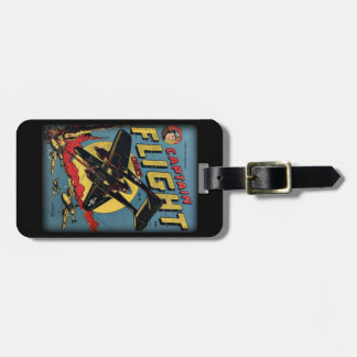 Captain Flight Vintage Golden Age Comic Book Luggage Tag