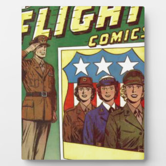 Captain Flight Vintage Golden Age Comic Book Plaque