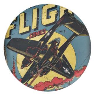 Captain Flight Vintage Golden Age Comic Book Plate