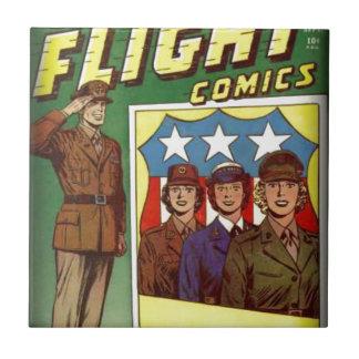 Captain Flight Vintage Golden Age Comic Book Tile