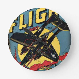 Captain Flight Vintage Golden Age Comic Book Wall Clock