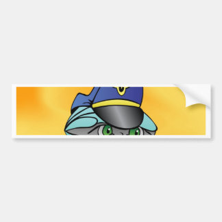 Captain focus on goal and success bumper sticker