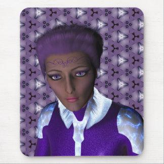 Captain Froabi a Beautiful Alien Woman Mouse Pad